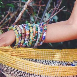▪️hand painted African beads▪️